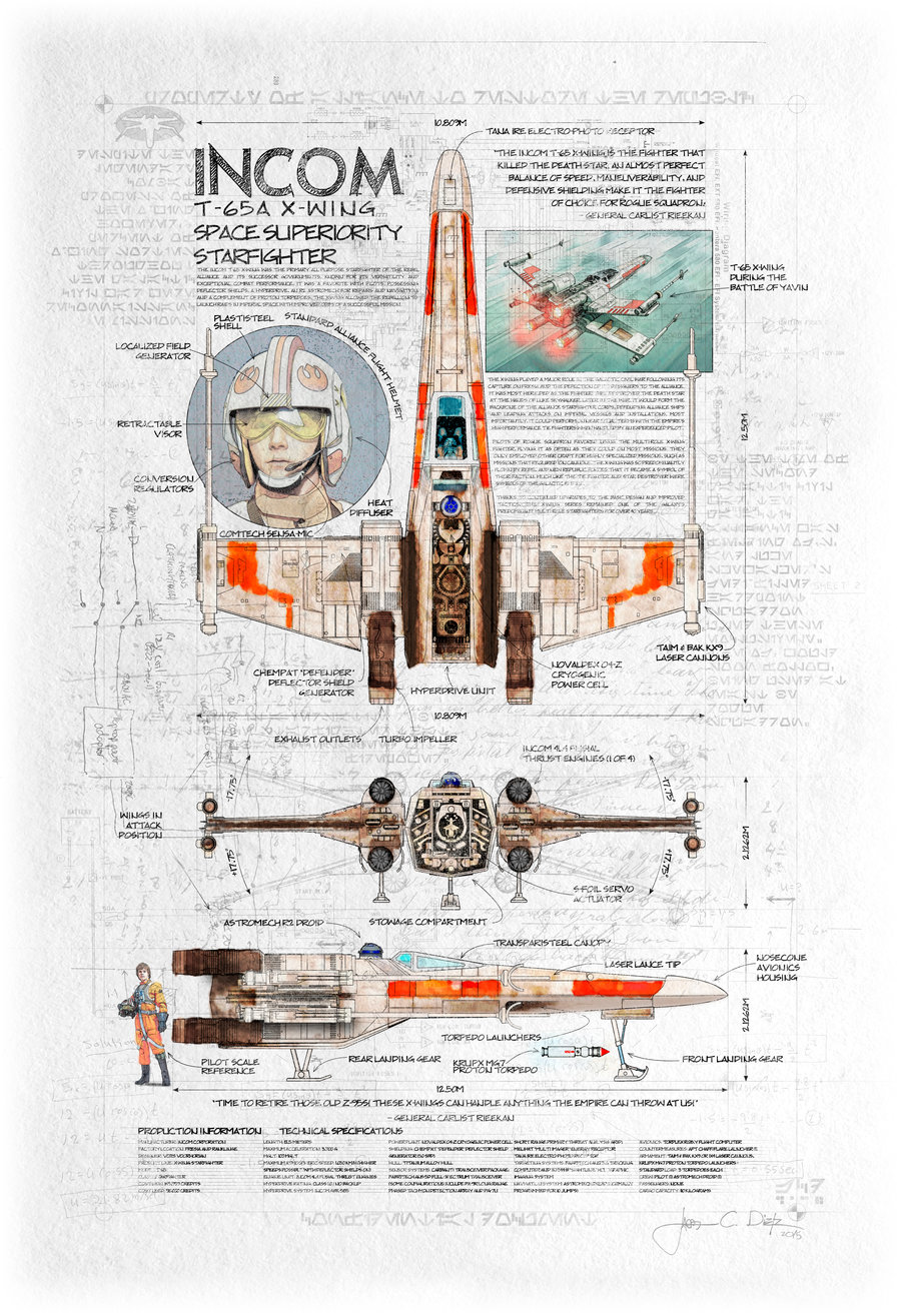 X-Wing Space Superiority Fighter - The Art of Jacob Charles ... on